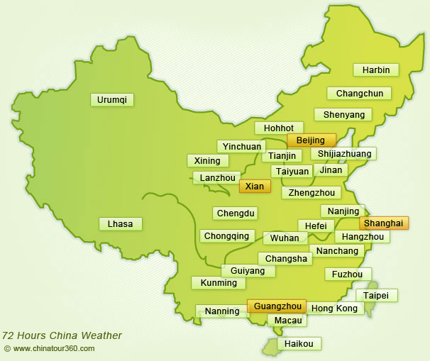 China Weather, China Climate, Weather Forecast for Cities